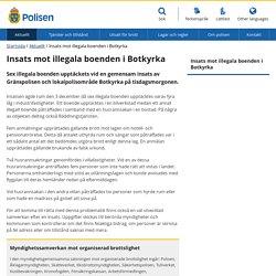 Insats mot illegala boenden i Botkyrka