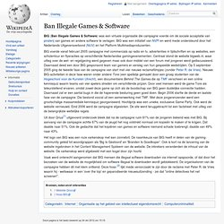 Ban Illegale Games & Software