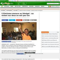 L'illetrisme menace au Sénégal : un enfant sur deux ne sait pas lire