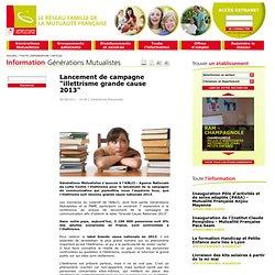 """Lancement de campagne """"illettrisme grande cause 2013"""""""