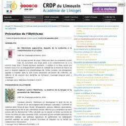Prévention de l'illettrisme - CRDP du Limousin - Académie de Limoges : des ressources pédagogiques pour enseigner