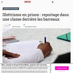 Illettrisme en prison: reportage dans une classe derrière les barreaux