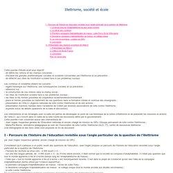 CNDP - Illettrisme, société et école