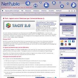 Tacit : logiciel contre l'illettrisme (par l'Université Rennes 2)