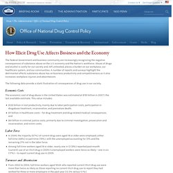 How Illicit Drug Use Affects Business and the Economy