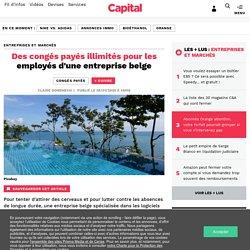 Des congés payés illimités pour les employés d'une entreprise belge