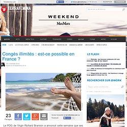Congés illimités : est-ce possible en France
