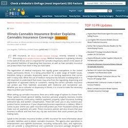 Illinois Cannabis Insurance Broker Explains Cannabis Insurance Coverage
