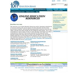 Illinois Online Network: Educational Resources