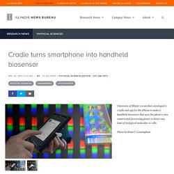 Cradle turns smartphone into handheld biosensor
