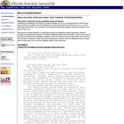 105ILCS10/Illinois School Student Records Act.