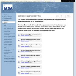 IllinoisASA - Danielson Workshop Files