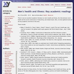 Men's health and illness: Key academic readings