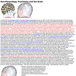 The Brain and Mental illness: Modern Psychiatry is neo-Phrenology
