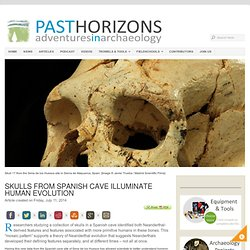 Skulls from Spanish cave illuminate human evolution