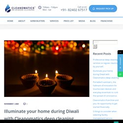 Illuminate your home during Diwali with Cleanomatics deep cleaning - Cleanomatics