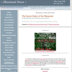 The Secret Order of the Illuminati