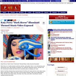 "Katy Perry ""Dark Horse"" Illuminati Themed Music Video Exposed"