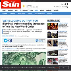 Illuminati website used by thousands to 'join the New World Order'