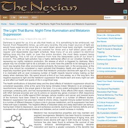 The Light That Burns: Night-Time Illumination and Melatonin Suppression - The Nexian