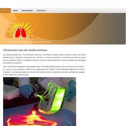 L'illumination avec des textiles lumineux