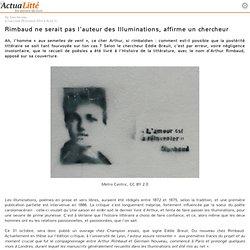 Un chercheur affirme que Rimbaud ne serait pas l'auteur des Illuminations
