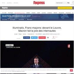 Illuminatis, Franc-maçons: devant le Louvre, Macron fait la joie des internautes