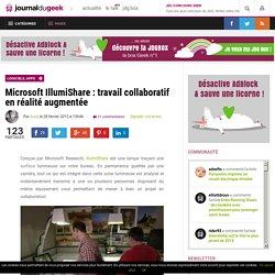 Microsoft IllumiShare : travail collaboratif en réalité augmentée