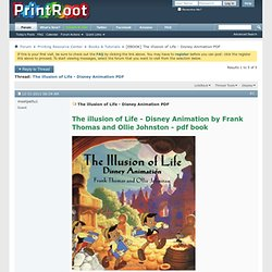 [EBOOK] The illusion of Life - Disney Animation PDF - PrintRoot Forums