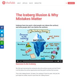 The Iceberg Illusion & Why Mistakes Matter