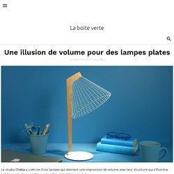 Une illusion de volume pour des lampes plates