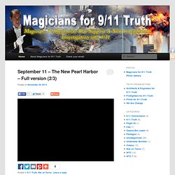 Magicians & Illusionists who support a new investigation into 9-11 | Magicians for 911 Truth