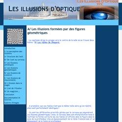 A/ Les illusions formées par des figures géométriques