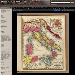 David Rumsey Collection: Map of ancient Italy.