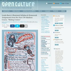 """Lynda Barry's Illustrated Syllabus & Homework Assignments from Her New UW-Madison Course, """"Making Comics"""""""