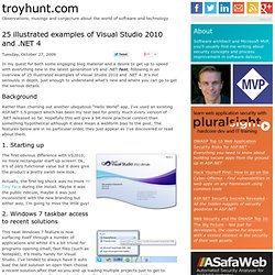25 illustrated examples of Visual Studio 2010 and .NET 4