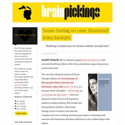 Susan Sontag on Love: Illustrated Diary Excerpts – Brain Pickings
