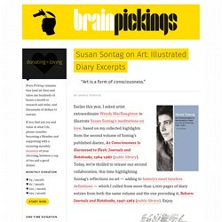 Susan Sontag on Art: Illustrated Diary Excerpts – Brain Pickings