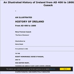 An Illustrated History of Ireland from AD 400 to 1800, Mary Frances Cusack