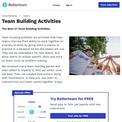 Top 37 Team Building Activities + Illustrated Instructions
