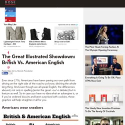 The Great Illustrated Showdown: British Vs. American English - Dose - Stories Worth Sharing