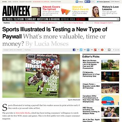 Sports Illustrated Is Testing a New Type of Paywall