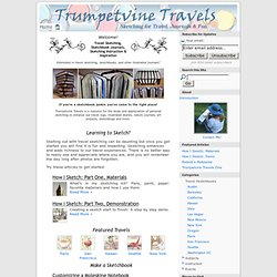 Travel Sketching, Illustrated Journals and Sketchbooks : Trumpetvine