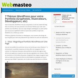 7 Thèmes Wordpress pour votre Portfolio (Graphistes, Illustrateurs, Développeurs, etc)
