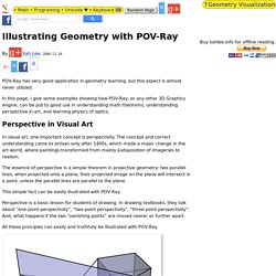 Illustrating Geometry with POV-Ray