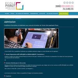 Comment être admis à l'école de design nantes pivaut en prépa d'arts ? - École Pivaut - design, animation 2D, BD, graphisme, illustration, packaging, architecture d'intérieur