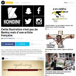 Cette illustration n'est pas de Banksy mais d'une artiste française
