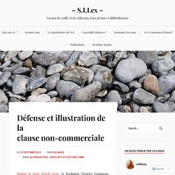 Défense et illustration de la clause non-commerciale – – S.I.Lex –