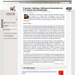 Calimaq: Défense et illustration de la clause noncommerciale