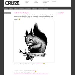 design & illustration » » Das Einhörnchen / The Squirrel